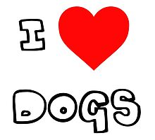 I Heart Dogs by PingusTees