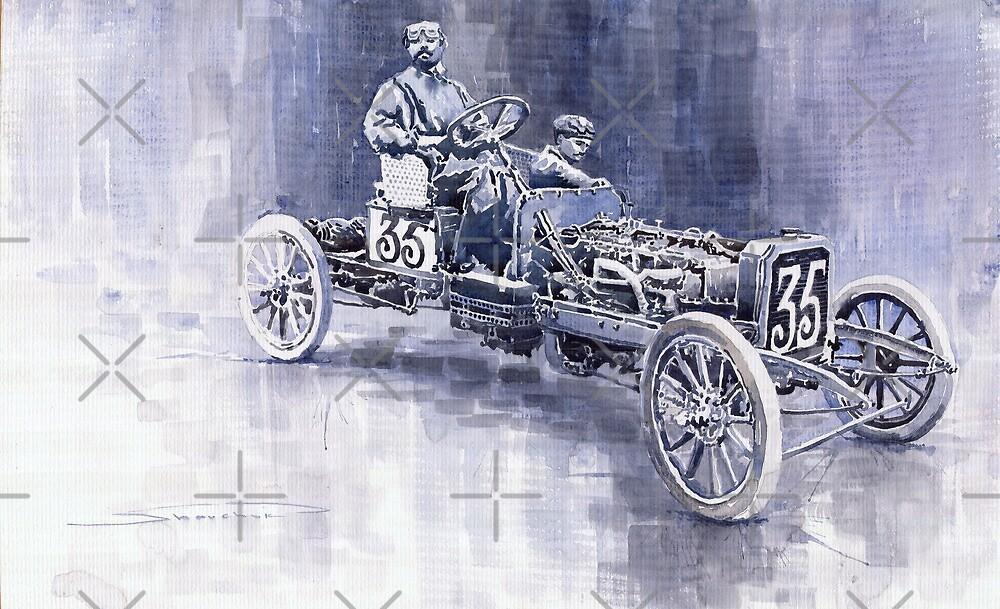 Benz 60HP Targa Florio Rennwagen 1907 by Yuriy Shevchuk