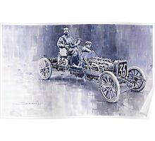 Benz 60HP Targa Florio Rennwagen 1907 Poster