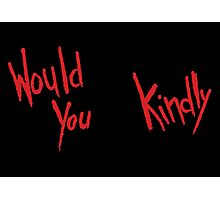 BioShock – Would You Kindly (Solid Red) Photographic Print