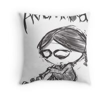 Aracnakid Throw Pillow
