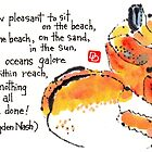 Happy Crab (On the Sand, In the Sun) by dosankodebbie