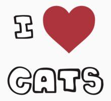 I Heart Cats Baby Tee