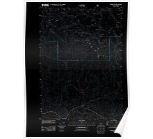USGS Topo Map Oregon Prairie Hill 20110727 TM Inverted Poster