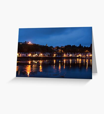 Tobermory At Night Greeting Card