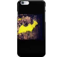 Yellow batman graffiti art iPhone Case/Skin