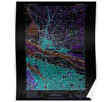USGS Topo Map Oregon Portland 282802 1961 62500 Inverted Poster
