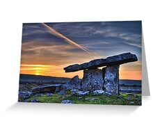 Poulnabrone Dolmen Greeting Card