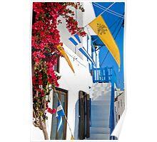Greece. Streets of Mykonos. Poster