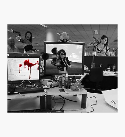 Office Cubicle Photographic Print