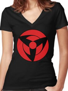 mangekyou Women's Fitted V-Neck T-Shirt