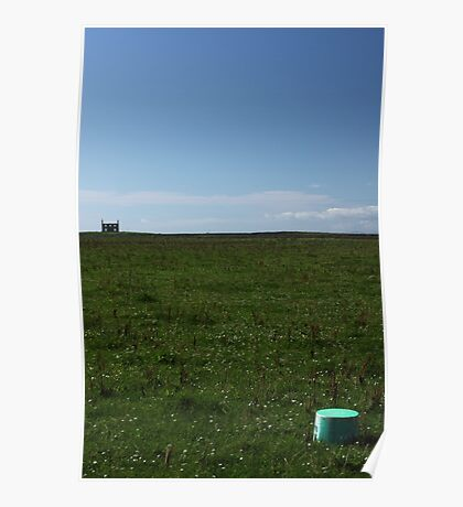 Country ruin and container Poster