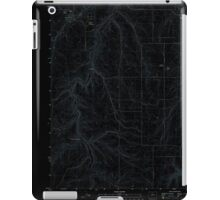 USGS Topo Map Oregon Moro 20110903 TM Inverted iPad Case/Skin