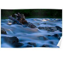 Velvet water at full moon Poster