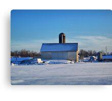 A Farm In Winter Canvas Print