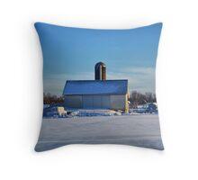 A Farm In Winter Throw Pillow