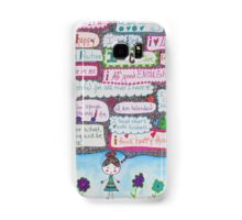 Positivity Girl Doodle Samsung Galaxy Case/Skin