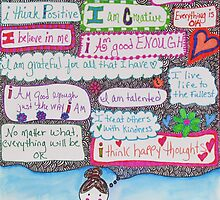 Positivity Girl Doodle by Tricia Anne Michael