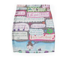 Positivity Girl Doodle Mini Skirt