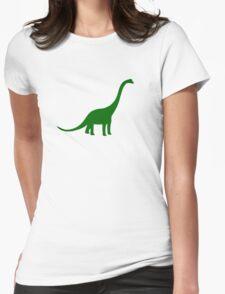Brachiosaurus Dinosaur Womens Fitted T-Shirt