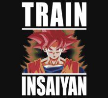 TRAIN INSAIYAN - Goku Super Saiyan God by oolongtees