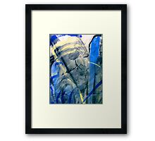 blue spaces... not much else Framed Print