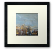 Blue sky & billboards Framed Print