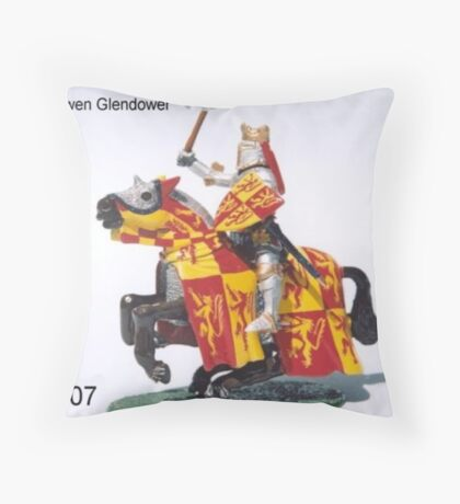 Owen Glendower last king of Wales Throw Pillow