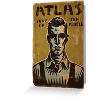 BioShock – Atlas, Voice of the People Greeting Card