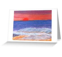 Beyond the Sunset and Sea. Greeting Card