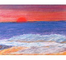 Beyond the Sunset and Sea. Photographic Print