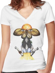 Mother Nature IX Women's Fitted V-Neck T-Shirt