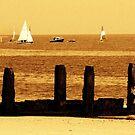 Lowerstoft Sea Side in Sepia by MichelleRees