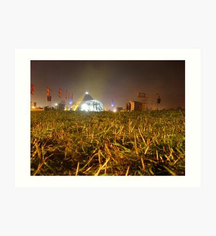 Pyramid Stage, Glastonbury Festival 2007 Art Print