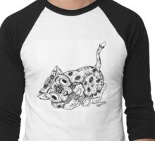 Cat and Yarn Men's Baseball ¾ T-Shirt