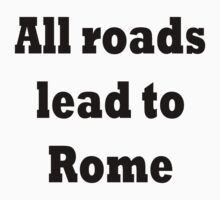 All roads lead to Rome One Piece - Long Sleeve