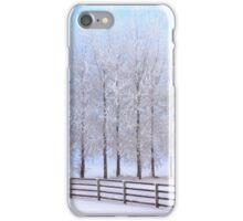 Frozen Poplar Trees II, Northern Ireland iPhone Case/Skin