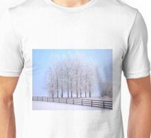 Frozen Poplar Trees II, Northern Ireland Unisex T-Shirt