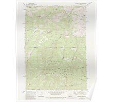 USGS Topo Map Oregon Dutchman Creek 279737 1968 24000 Poster