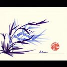 Huntington Gardens Plein Air Bamboo Drawing #2 by Rebecca Rees