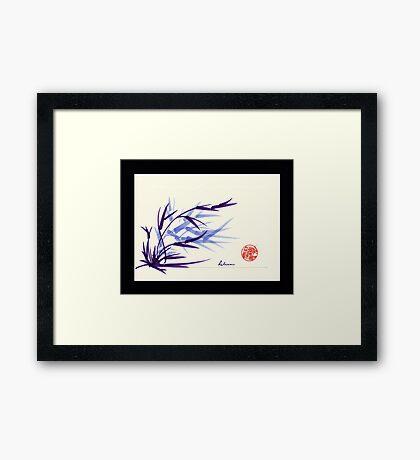 Huntington Gardens Plein Air Bamboo Drawing #2 Framed Print