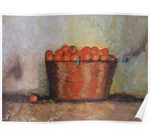 Oranges in basket Poster