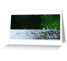 Kinetic Raindrops Greeting Card