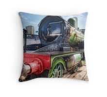 Good Old Train Throw Pillow
