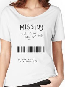 Missing - Barcode Women's Relaxed Fit T-Shirt