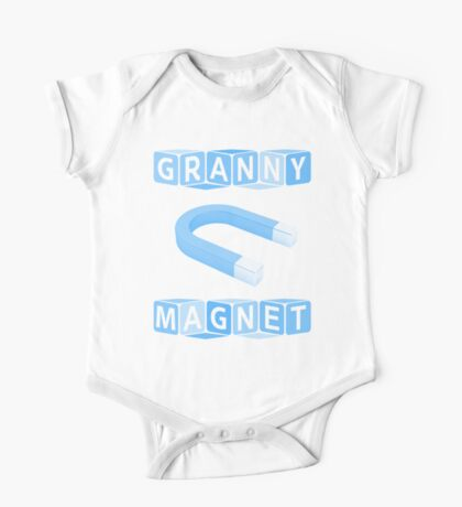 Granny Magnet - Blue One Piece - Short Sleeve