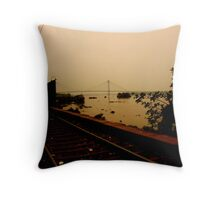 Vidyasagar setu - where Calcutta lies. Throw Pillow