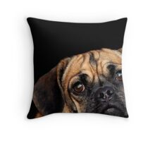 The power of the puggle. Throw Pillow