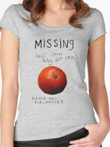 Missing - Orange Women's Fitted Scoop T-Shirt