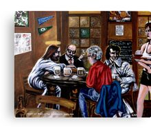 'Elvis & Jesus at the Sports Bar' Canvas Print